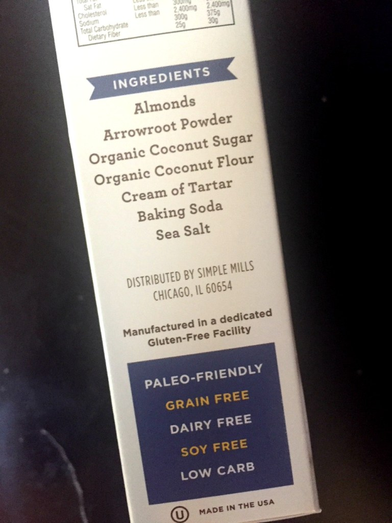 Simple Mills Clean Ingredient List