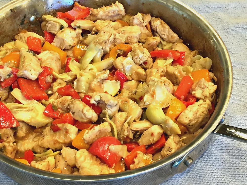 Artichoke Chicken Stir Fry 3