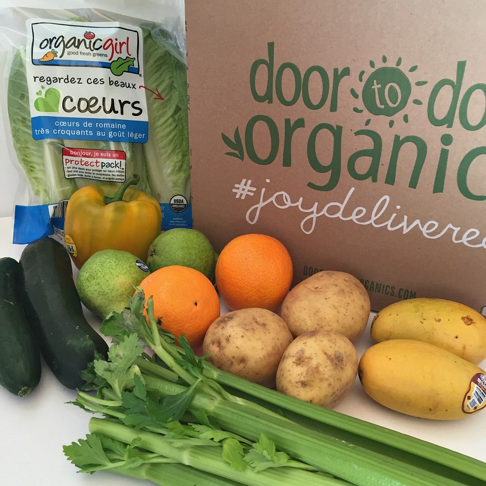 Door to Door Organics Delivers Joy in a Box!  Recipe & Giveaway