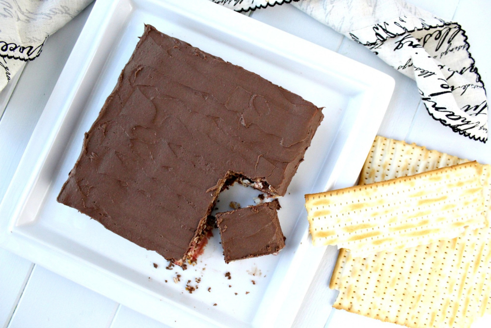 No-Bake Gluten-Free Chocolate Matzah Cake for Passover