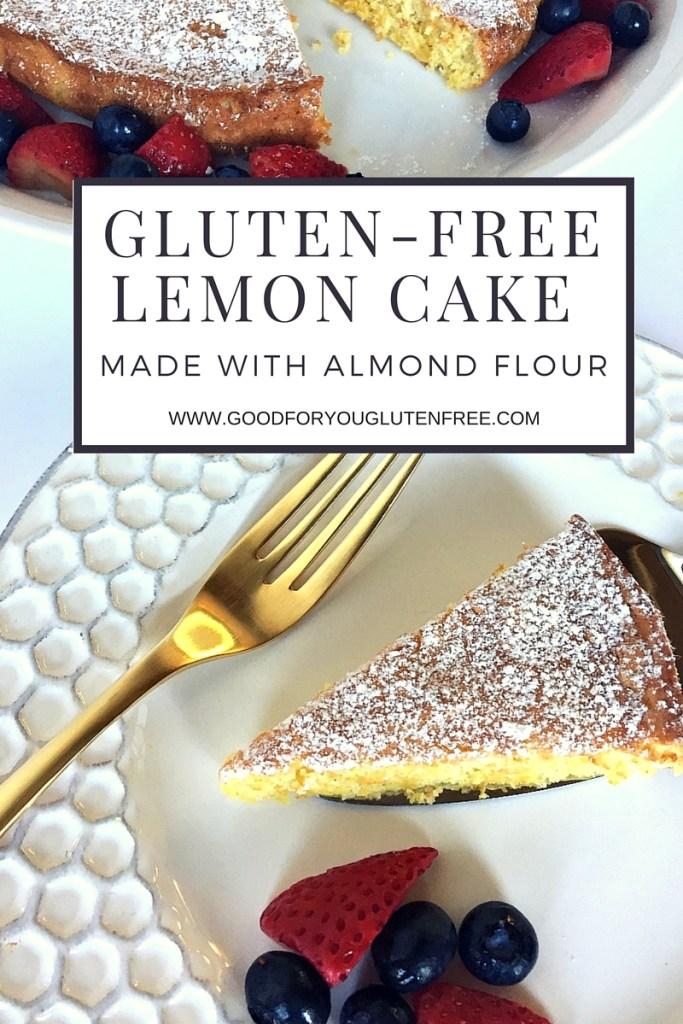 Gluten-Free Lemon Cake with Almond Flour - graphic