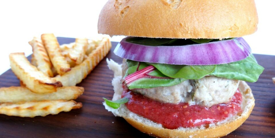"""Gluten-Free Turkey Burger with Cranberry Mustard is """"Pure Delicious"""""""