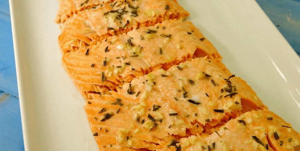Gluten-Free Baked Salmon with Garlic Butter Seasonings