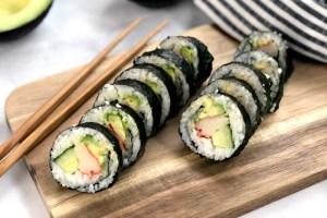 Gluten-free sushi rolls header