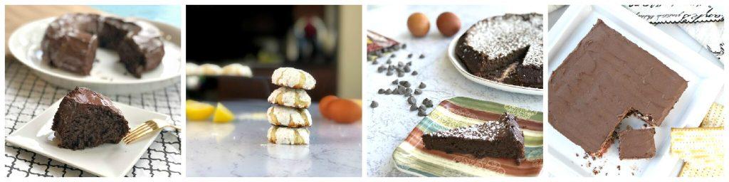 Gluten-Free Passover Dessert Recipes collage