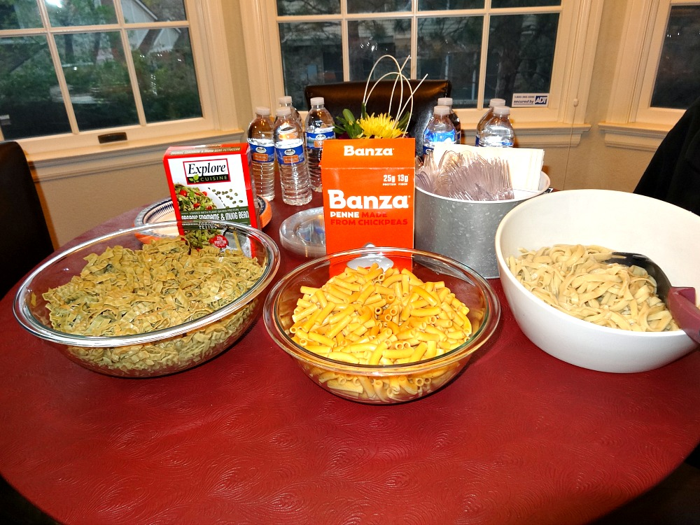 Pasta sampling table