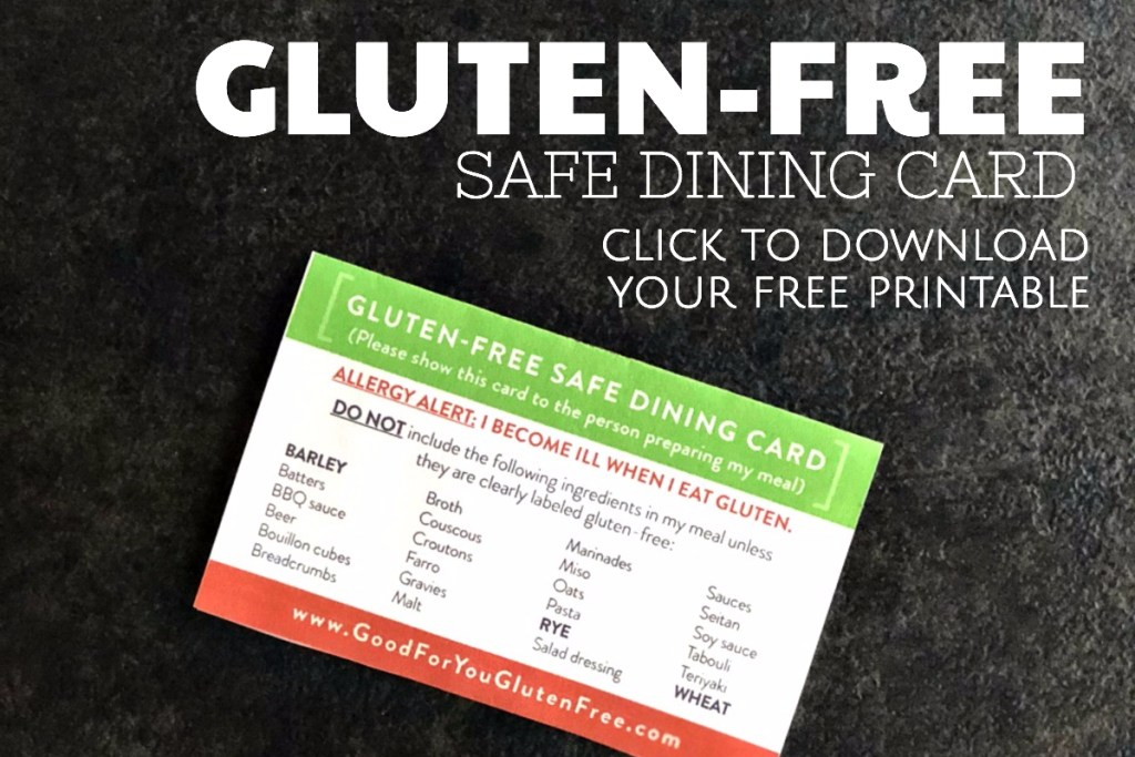 Gluten-Free Safe Dining Card Printable - Graphic (1)
