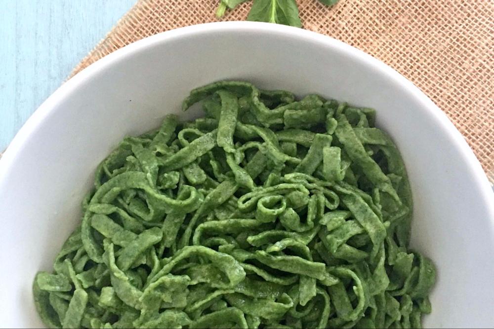 Gluten-Free Spinach Pasta Header
