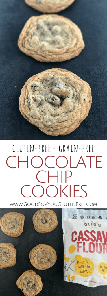 Cassava Flour Chocolate Chip Cookies - Grain-Free, Gluten-Free - Good For You Gluten Free