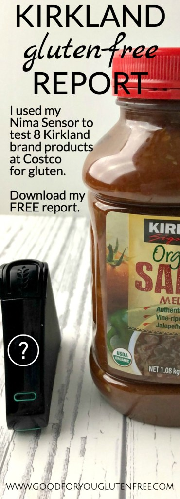 Download this FREE Kirkland Gluten-Free Report from Good For You Gluten Free - #NimaSensor #GlutenFreeProducts - What's gluten-free at Costco?