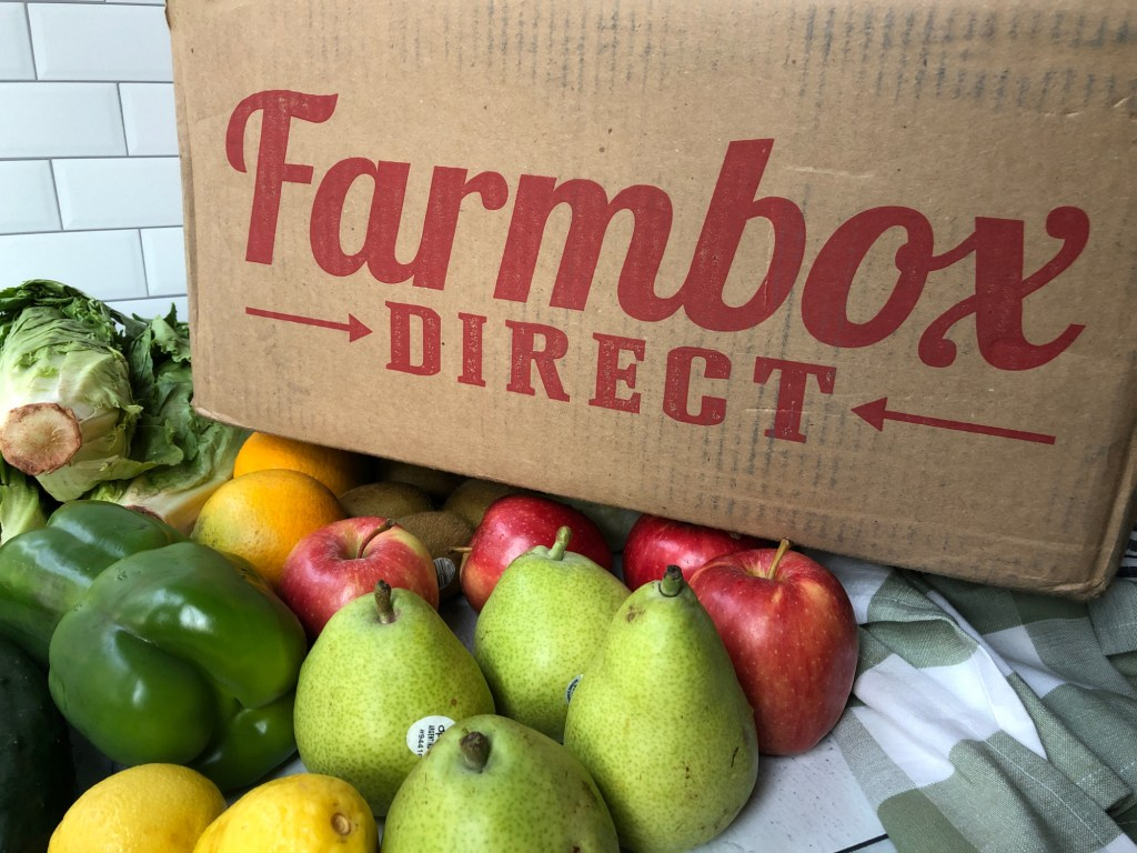 Tons of produce and Farmbox Direct box