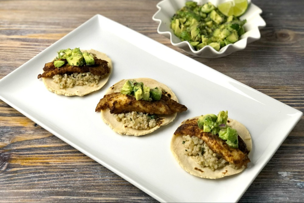 Gluten-Free Fish Tacos with Cilantro Lime Rice and Cassava Flour Tortillas