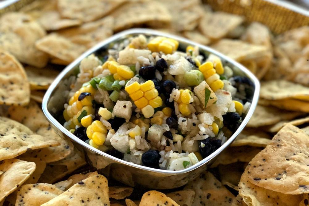 Cilantro-Lime Rice and Black Bean Salsa header