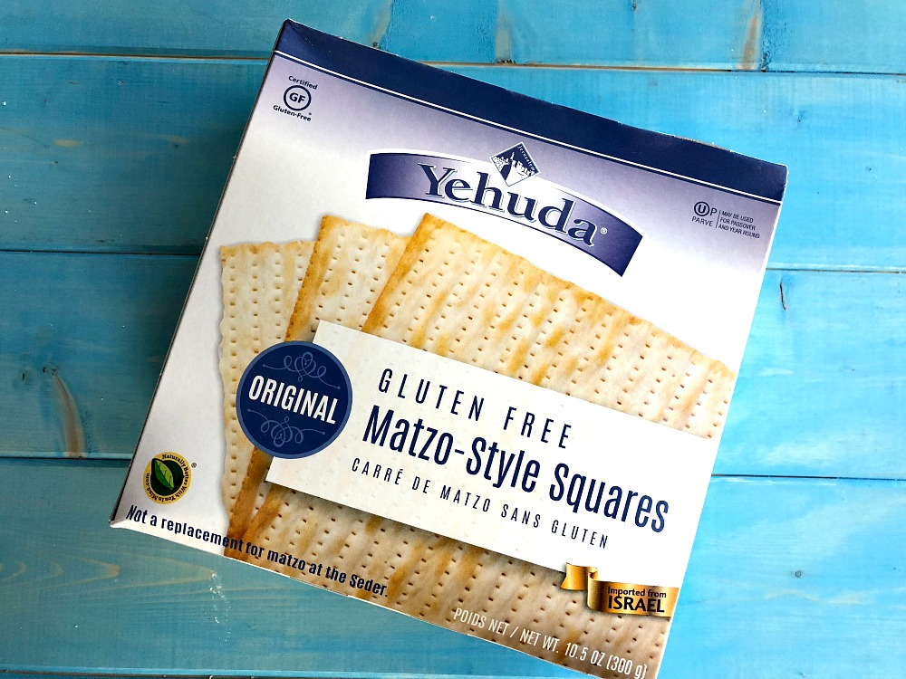 Gluten-Free Matzah box