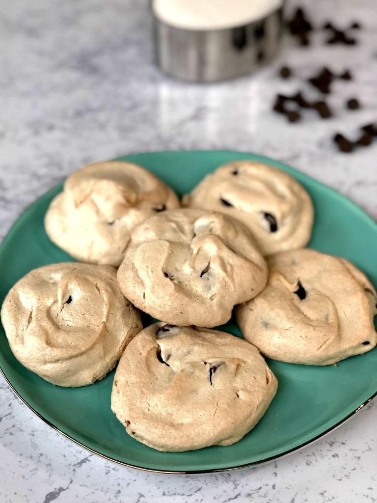 Meringue cookies on a plate