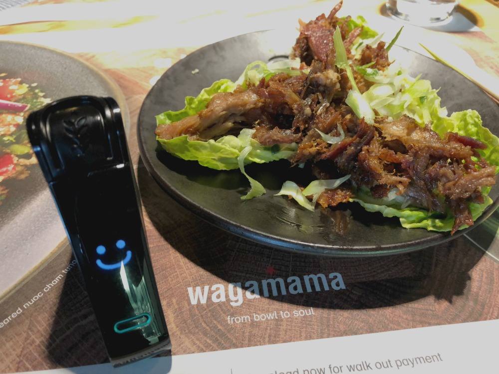 Gluten-free crispy duck at Wagamama