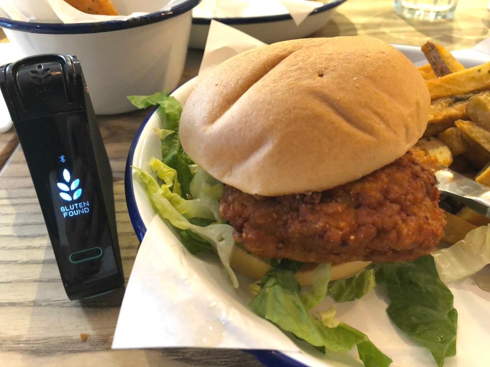 Honest Burger- gluten found in fried chicken burger