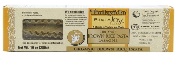 Tinkyada Brown Rice Lasagne Noodles