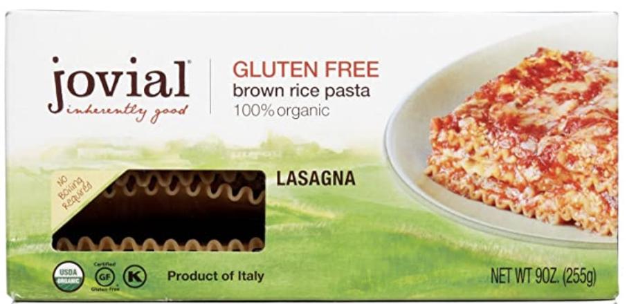 Jovial gluten-free lasagna noodle