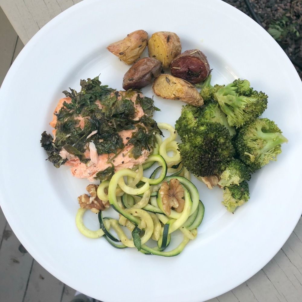 Whole 30 Recipe idea for dinner - herb salmon