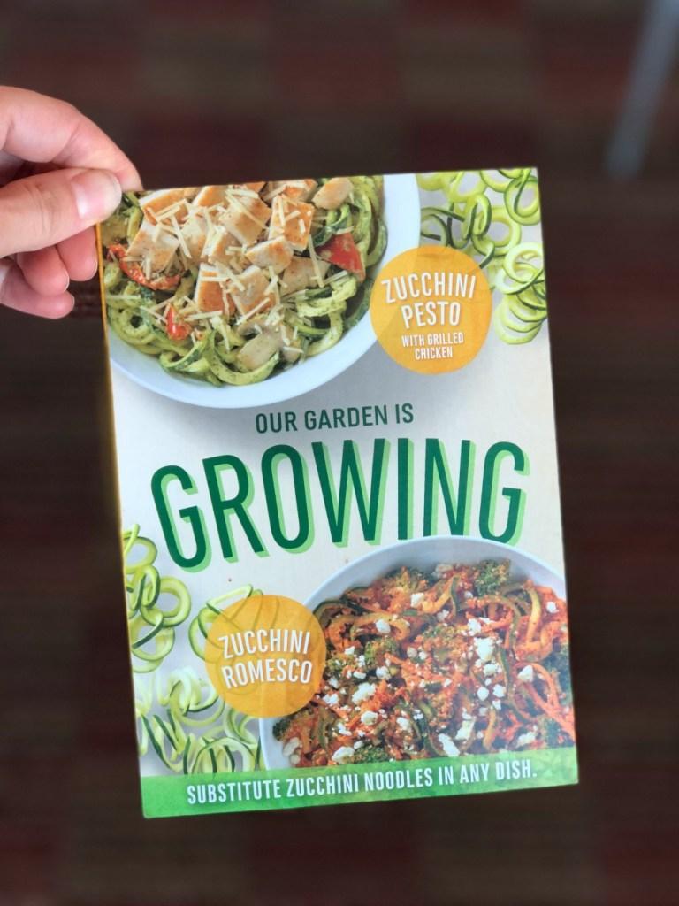 Zucchini Noodles at Noodles & Company brochure