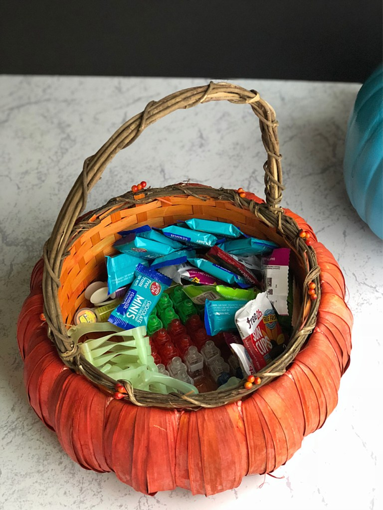 Teal Pumpkin Project - basket of goodies