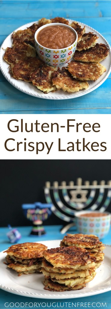 Gluten-Free Latkes Recipe - Good For You Gluten Free #hanukahrecipes #chanukahrecipes #latkes