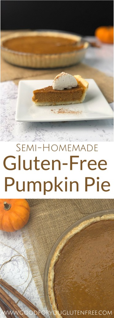 Gluten-Free Pumpkin Pie Recipe - Good For You Gluten Free #thanksgivingrecipes #pumpkinpie #glutenfreerecipes #glutenfreepie