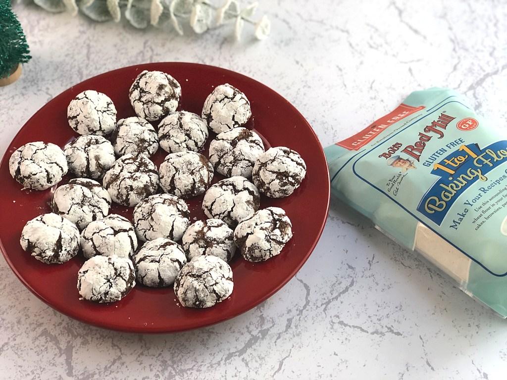 Gluten-Free Chocolate Crinkle Cookies 2