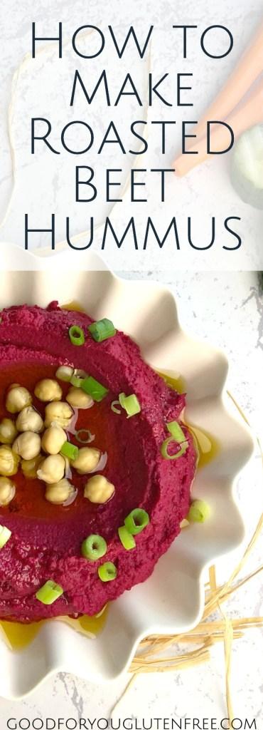 Roasted Beet Hummus - Good For You Gluten Free #hummus #healthyrecipes #beets