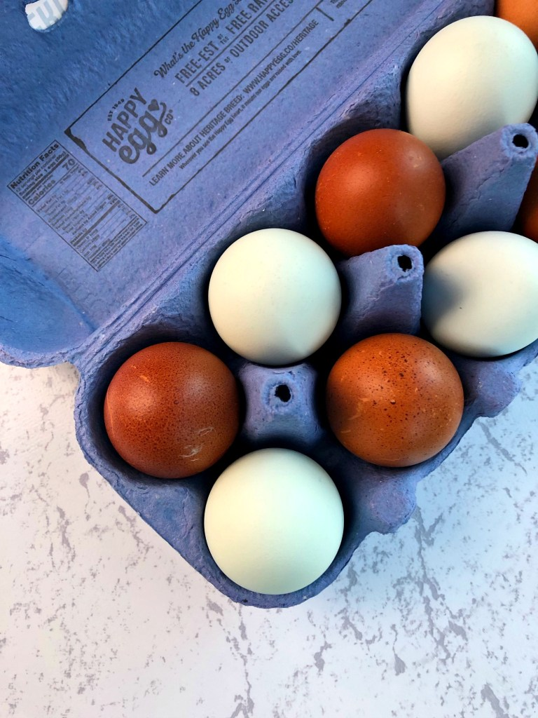 Heritage Breeds Eggs in Carton up close