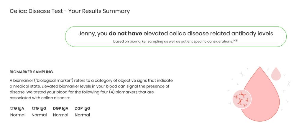 imaware celiac disease testing results