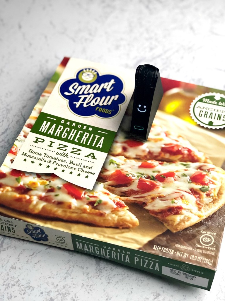 Smart Flour Foods gluten-free pizza with Nima Sensor smile