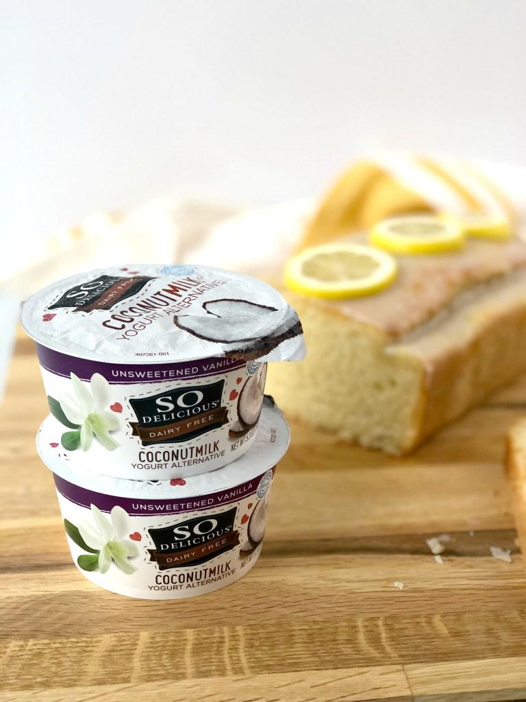 Close up on So Delicious Coconutmilk Yogurt Alternative