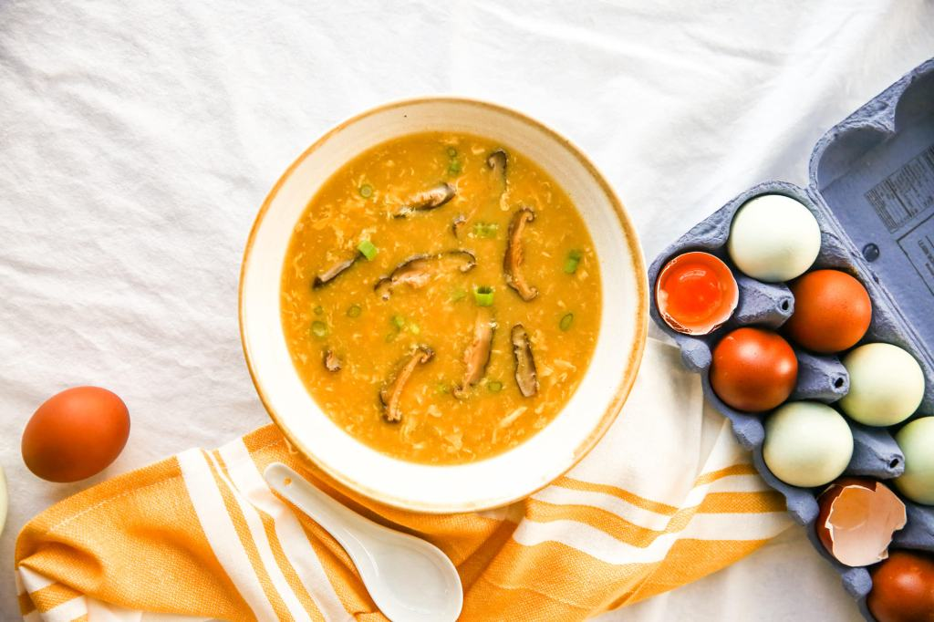 The Heritage Breed egg yolk with egg drop soup