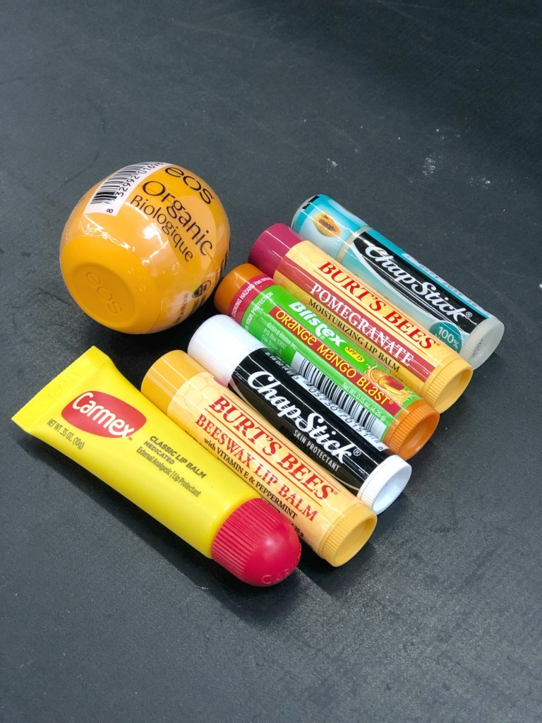 Assorted lip balms