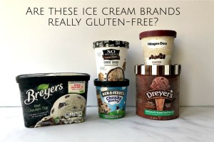 Containers of Breyer's, So Delicious, Ben and Jerrys, Haagen Dazs and Dreyers ice creams