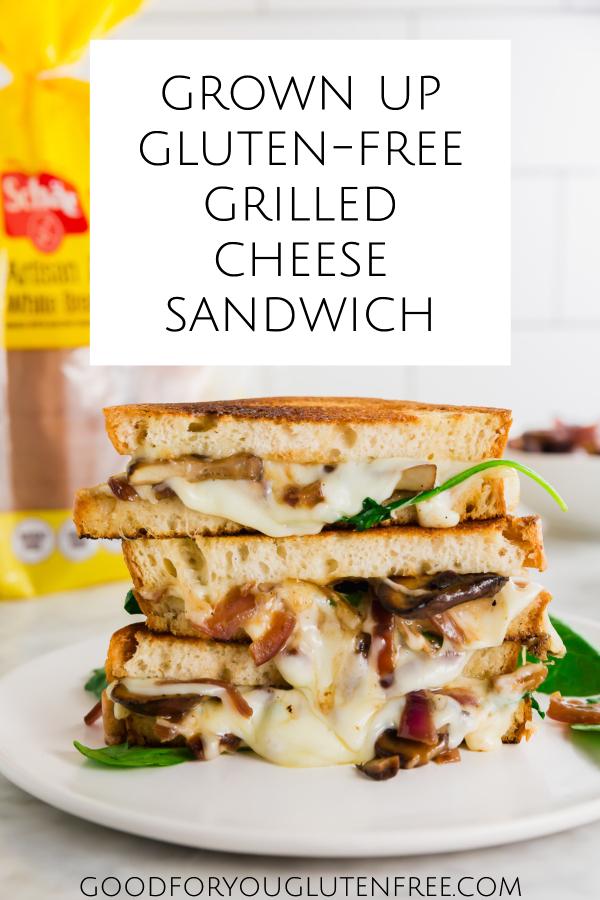 Grown up gluten-free grilled cheese sandwich