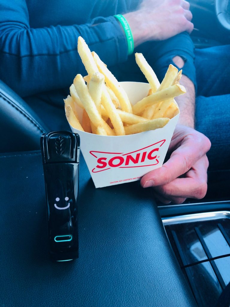 Testing-the-Sonic-french-fries-for-gluten-with-my-Nima-Sensor-1