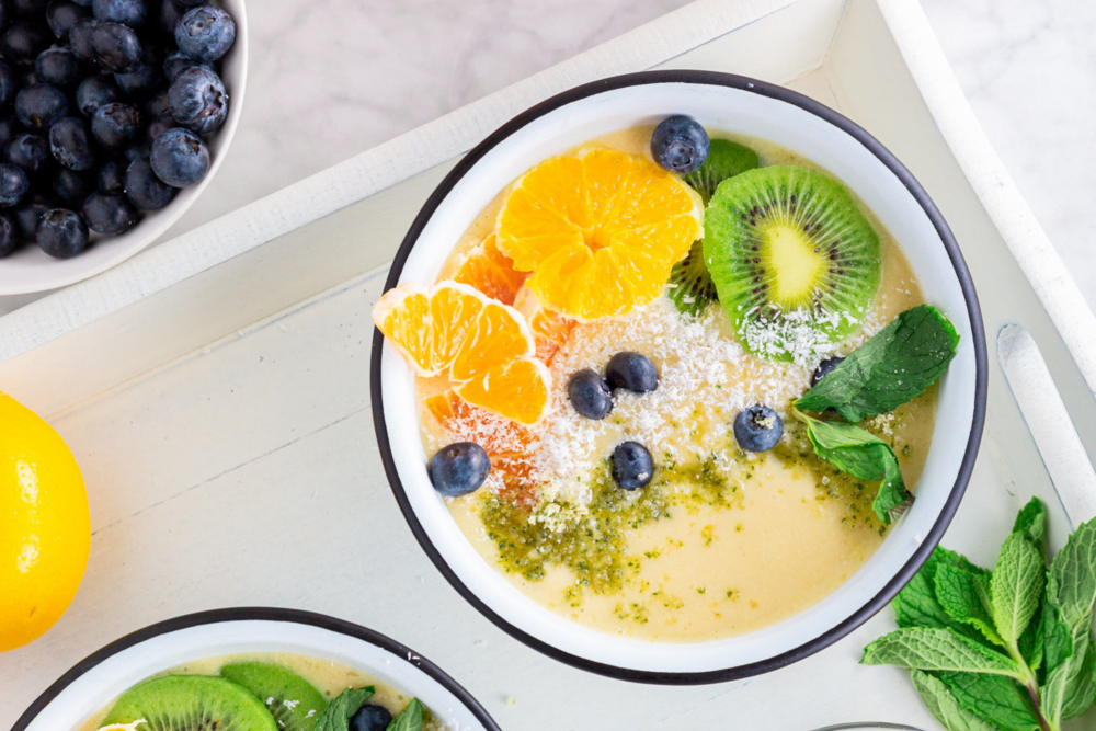 Dairy-Free Citrus Mint Smoothie Bowl