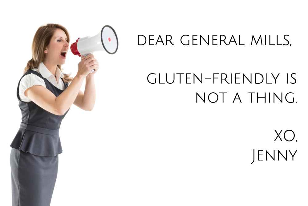 Dear General Mills, gluten-friendly is not a thing