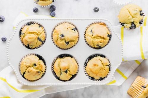 Vegan and Gluten-Free Blueberry Muffins - header