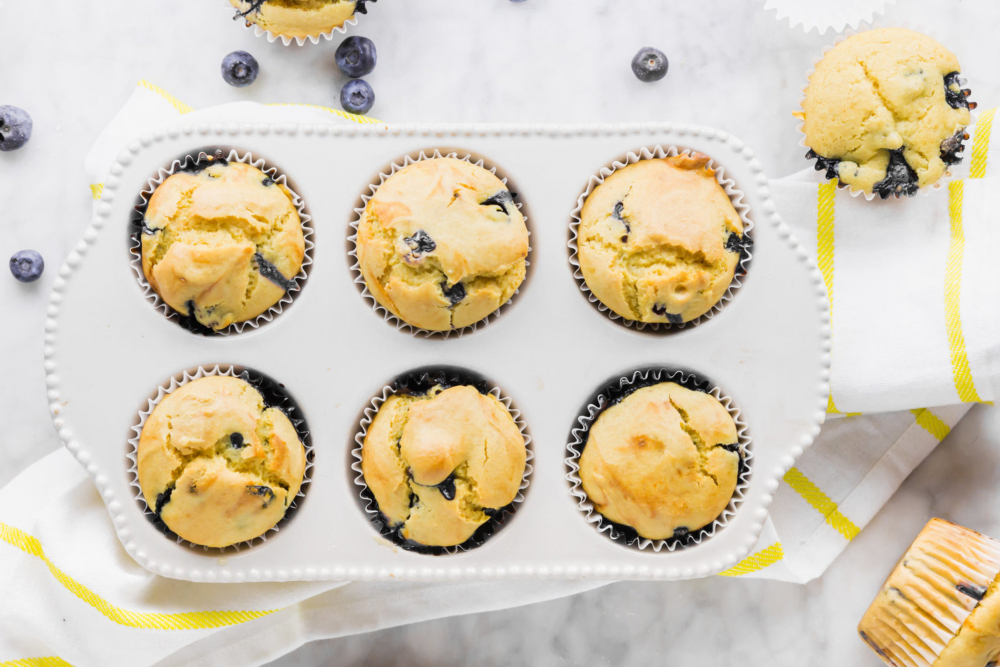Vegan and Gluten-Free Blueberry Muffins - header