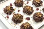 Chocolate covered crispy quinoa clusters header