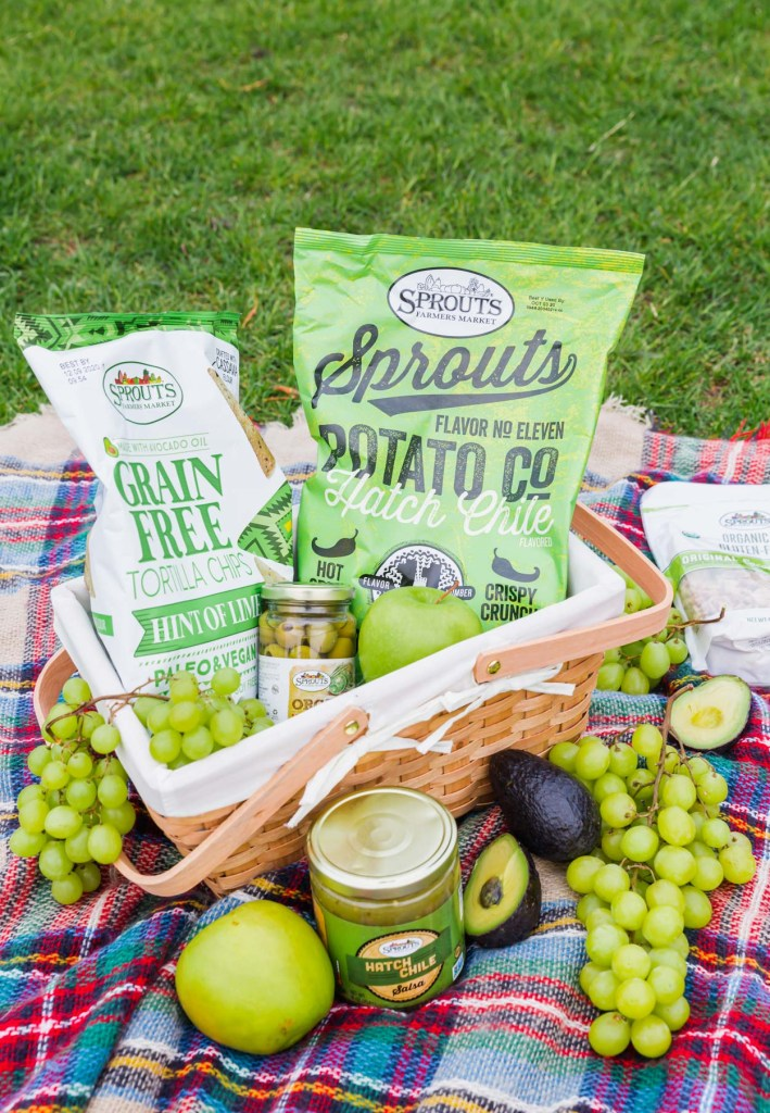 Sprouts themed gluten-free picnic basket