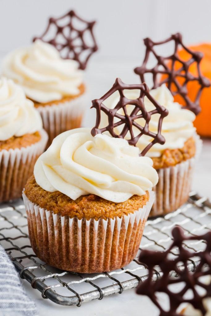 almond flour pumpkin muffin for halloween