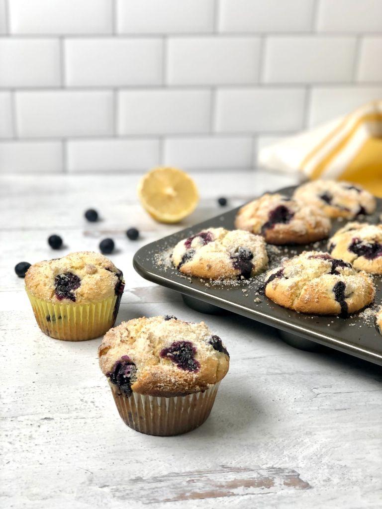 Several gluten-free blueberry muffins