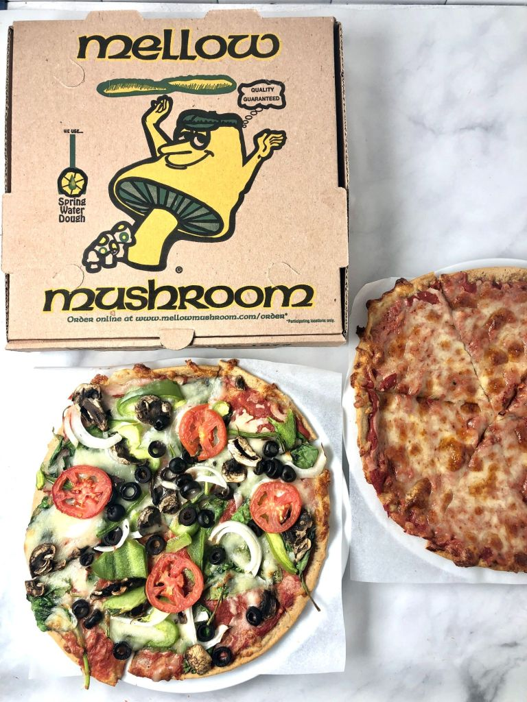 Picture of the two gf pizzas I ordered at Mellow Mushroom