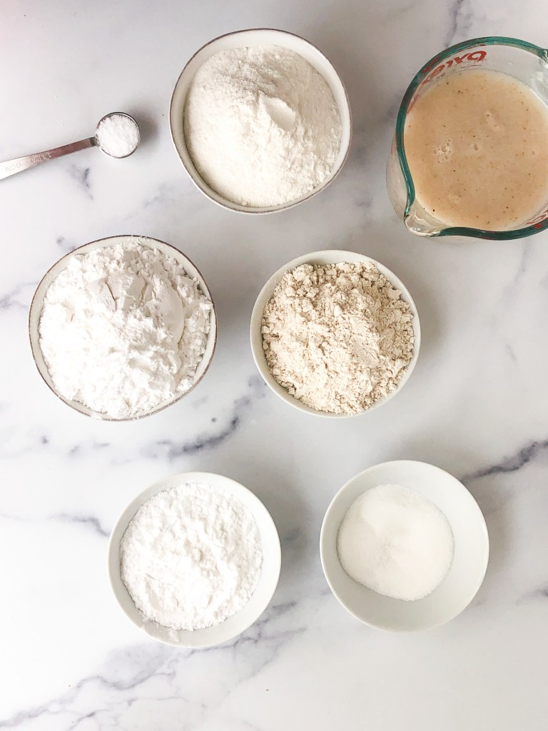 ingredients needed to make gluten-free artisan bread