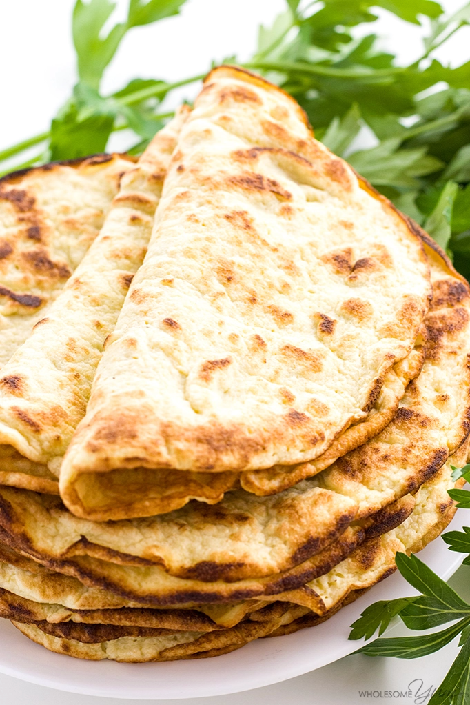 coconut flour tortilla by wholesome yum